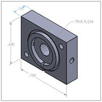 12mm IMS Sample Inlet Housing Part# DT-INLET-HOUSING