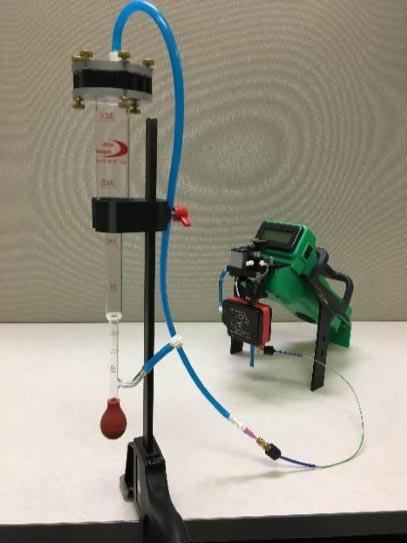 Bubble Flow Meter with FROG Portable GC