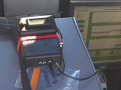 TOCAM in the field Portable Gas Chromatograph GC